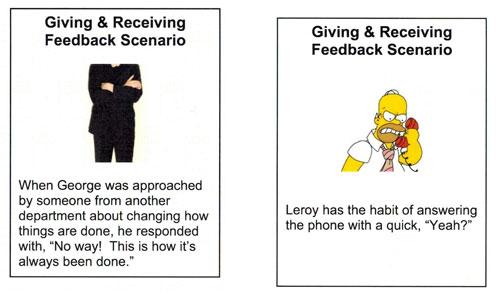 Feedback cards 4