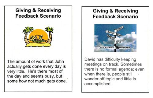 Feedback cards 6